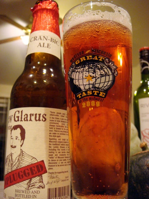 New Glarus Unplugged Cran-bic Ale